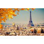 Paris Torre Eiffel Vintage Tela Canvas Bastidor 90x60 Cm