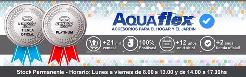 Manguera Plana 15 Mts Con Carretel Riego H101b Aquaflex