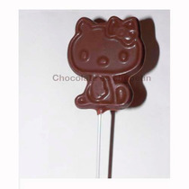 12 Chupetines De Chocolate Kitty