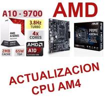 Actualizacion Cpu Gamer Juegos Micro A10 9700 Mother Am4