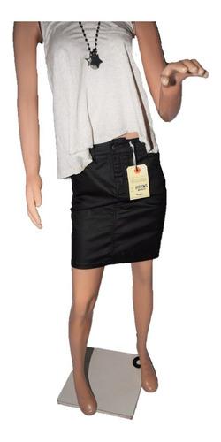 13436eba2 Wrangler Pollera Erin Skirt Engomada Negra en venta en Flores ...