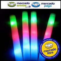 15 Varas Barra Goma Espuma Rompecoco Luminoso Led 3 Colores