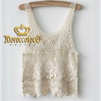 Blusa Musculosa Crochet Importada Art.3017