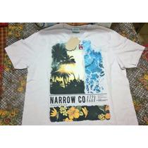 Remera Narrow - Mangas Cortas - Color Blanco - Talle S Small