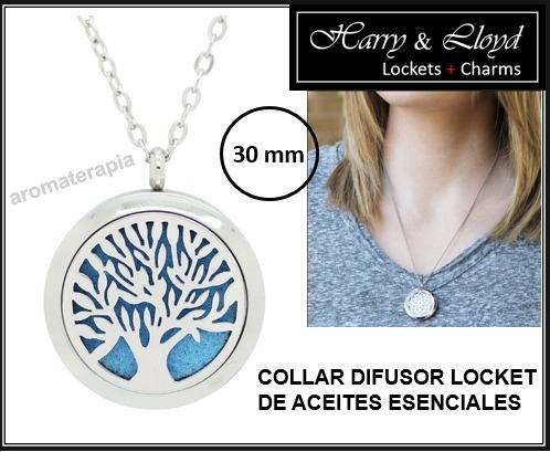 3bc21a1574a0 Collar Colgante Locket Difusor Aromaterapia