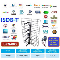 Antena Panel Tv Digital Hd Publica Tdt Tda Uhf Potenciada
