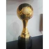 Trofeo Copa Plástico Pelota Fútbol Balón De Oro Base Plástic