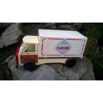 Antiguo Camion Madera Años 60-45 Cm Devoto Hobbies