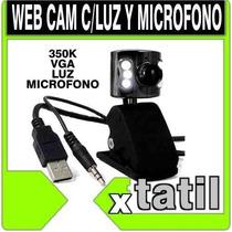 Web Cam 640x480 C/ Luz Y Microfono Nueva Xtatil Belgrano