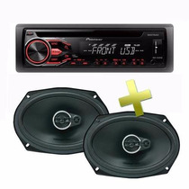 Combo Estereo Parlante Pioneer Deh X1810 + 6x9 Monster