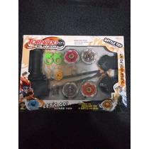 Beyblade Pack X 4 Tornado Metal Masters