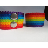 Pulsera Orgullo Gay Lgbt Ancha Doble Boton