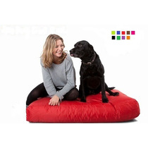 Colchon Puff Perro Impermeable 1 X 0.70 Mts Ecocuero Enorme