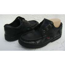 Kickers Zapatos Escolares Varon 38 Cuero Negro (ana.mar)