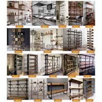 Estantería Biblioteca Repisa Madera Hierro A Cotizar Es-35 en venta ... fe4c4bf44c33