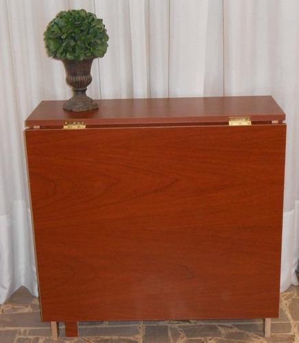 Mesa plegable cocina comedor madera auxiliar melamina a for Mesa plegable cocina