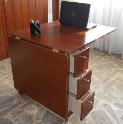 Mesa plegable cocina comedor madera auxiliar melamina a - Mesas plegables auxiliares ...