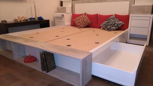 Total Zeta Muebles Cama 2 Plazas 4 Cajones +respaldo 140x190 $13500 ...