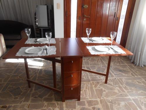 Mesa plegable cocina comedor madera auxiliar melamina a for Mesa auxiliar comedor