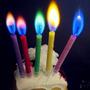 Velas De Cumpleaños Con Llama De Color