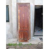 Puerta Antigua 4 Tableros Marco Cajon 61x220x3 Cm