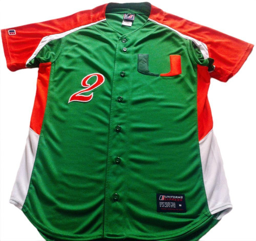 4f6e44bcf213e Casaca Baseball Univ Miami Hurricanes Estados Unidos Talle M