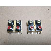 Jack X4 Rca (hembra) Para Circuito Impreso ( X 2 Unidades)