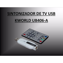 Sintonizadora Tv Stick Analog Usb Kworld Ub406-a Capturadora
