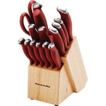 Set Cuchillos Cubiertos Kitchenaid 16 Piezas Con Taco
