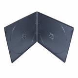 Cajas Plasticas Cd Dvd Slim Doble 7mm Negra Con Folio 1u E+