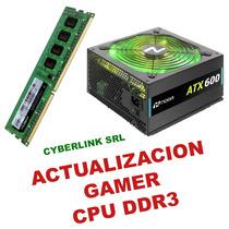 Combo Actualizacion Memoria Ddr3 8gb + Fuente Gamer 600w Rgb