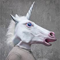 Mascara De Latex Unicornio Hallowen Original Caballo Disfraz