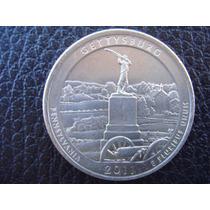 U. S. A. - Gettysburg, Moneda De 25 Centavos (cuarto), 2011