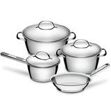 Set Batería Cocina Tramontina Acero Inox.4pz Fondo Induccion