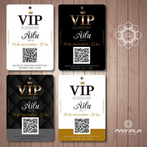 b376ec5dba13 100 Invitaciones Tarjetas Pase Vip 15 Doble Faz + Sticker en venta ...