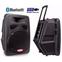 Parlante 15 C/ruedas Activo Winco Bluetooth Usb Sd 450w Rms