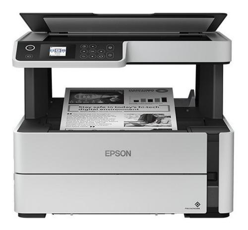 Impresora Multifunción Epson Ecotank M2170 Con Wifi 100v - 240v Blanca Y Negra