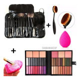 Combo Maquillaje Paleta + Brochas + Accesorios + Ideal Regal