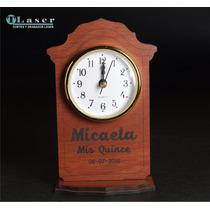 Souvenir Madera 15 Años, C/ Reloj, C/ Tu Nombre Grabado