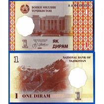 Tajikistan Billete De 1 Diram Año 1999 Sin Circular