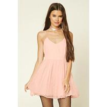 Vestido Color Blush Con Tul Forever 21 Talle S De Usa 7155
