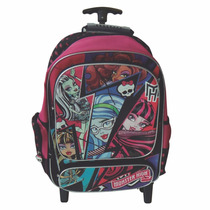 Mochila Con Carro Grande 18 Pulg. Monster High - Mundomanias