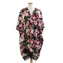 Lote X12 Kimonos Betty Surtidos De Raso Mangas Corta Estamp