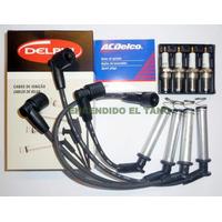 Kit Cables De Bujias Bosch+bujias Ac Delco Corsa/meriva/fun