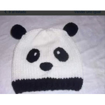 Gorro Panda Para Niños Tejido