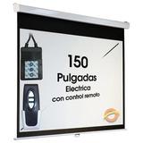 Pantalla Electrica Proyeccion Peliculas Retractil Proyector