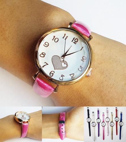 d925e8d22c94 .x5 Unidades Reloj De Mujer Por Mayor Malla Cuerina Oferta!
