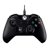 Joystick Microsoft Xbox One Controller + Cable For Windows Negro