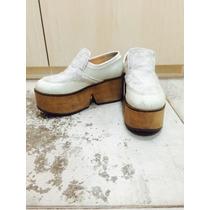 Zapatos Pepe Cantero 37 Blancos Plataforma Súper Cancheros!