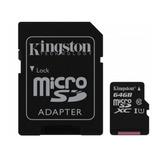 Tarjeta De Memoria Kingston Sdca10 Con Adaptador Sd 64gb